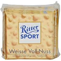 Ritter Sport Chocolate blanco enteros Avellanas - 5 x 100g
