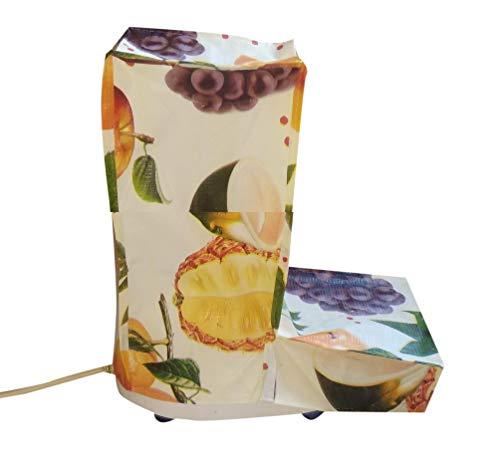 SUVE L-Shape Printed Fruits Design Mixer Grinder Cover (Multicolour)