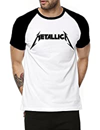 Fanideaz Cotton Metallica Music Band Half Sleeve Raglan T Shirt For Men