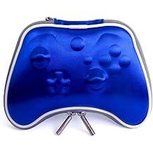 Pandaren® Caso duro bolsa de transporte airform para el Mando Xbox One (azul)