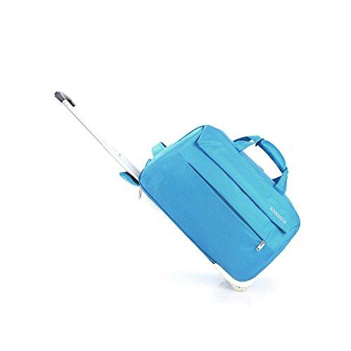 YAN Gepäcktasche mit Hebel Gepäcktasche Übergroße Leinwand Weekender Bag Reisetasche Herren Duffle Bag für Frauen & Männer mit separaten Schuhfach (Color : Blue, Style : Small) -