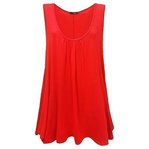 Runway Splash Women's Sleeveless Casual Dress 20 / 22 Red