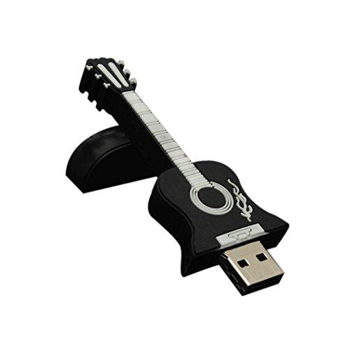 Zolimx Gitarre USB 2.0 Metall Flash Speicher Stick Speicher Thumb U Scheibe (32G, Schwarz) (Ac-dv Tv)