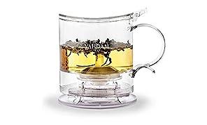 Tetera Imperial,16 ML, Tetera de dispensación Inferior | 100% Seguro - Aprobado por LA FDA - PLÁSTICO SIN BPA | Drain-Tap Technology, Kit de té Todo en uno | Mejor Tetera con infusores para té Suelto