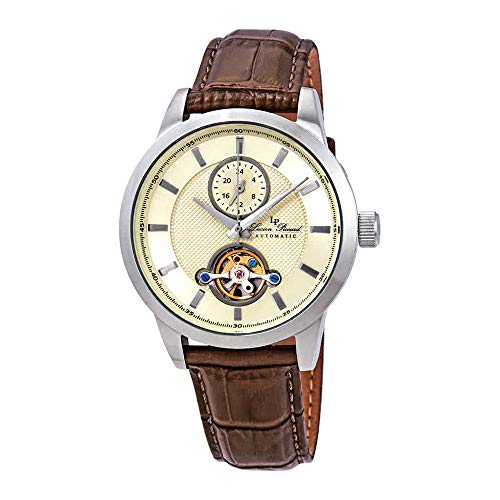 Lucien Piccard Open Heart GMT Automatic Men's Watch LP-28007A-020-BRW