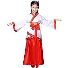 KINDOYO Hanfu Cinese - Costume Tradizionale Cinese Retrò di Hanfu per  Bambini Unisex c754992d57e2