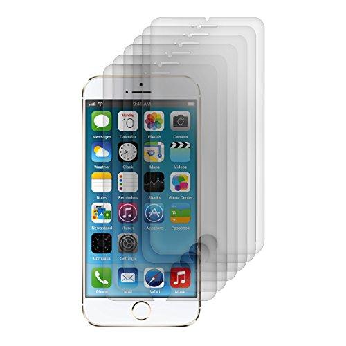 kwmobile 6X Folie matt für Apple iPhone 6 / 6S / 7/8 Displayschutzfolie Schutzfolie Displayschutz Anti-Fingerabdruck Displayfolie entspiegelt (Kleiner als das Display, da Dieses gewölbt ist)