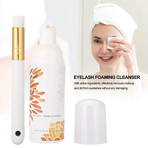 Cleanser Zum Reinigen (60ML Professional Eyelash Foaming Cleanser, reißfester Reinigungsschaum, Beauty Eyelash Cleaning Shampoo für Frauen(1#))