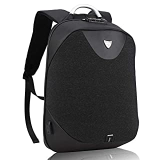 Arctic Hunter Design- Anti Theft Backpack,Waterproof Travel Backpack with Lock, Slim College School Computer Bag with USB Charging Port Fits 15.6