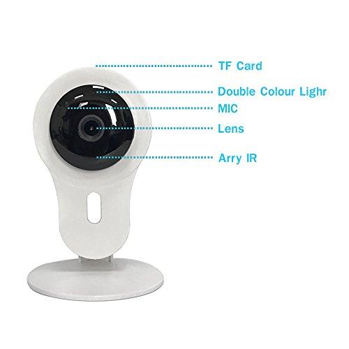 Sicherheit Kamera System, HD Überwachungskamera, Baby Monitor mit Pan/Tilt, HD Indoor CCTV Wireless, Audio, Bewegungserkennung, Bewegungsmeldung, inkl. 2-Wege-Stimme Kommunikation, Infrarot-Nachtsicht, unterstützt mehrere Benutzer Zugriff und Management (weiß)