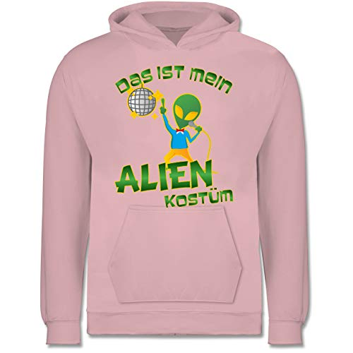 Kinder - Das ist Mein Alien Kostüm Disco - 7-8 Jahre (128) - Hellrosa - JH001K - Kinder Hoodie ()