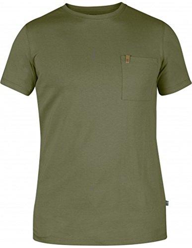 Fjällräven Herren Övik Pocket T-Shirt, Green, M