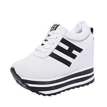 Immagine non disponibile. Immagine non disponibile per. Colore  Dragon868  Sneakers Donna con Zeppa Stivali Plateau Moda Scarpe ... d2ae11abf23
