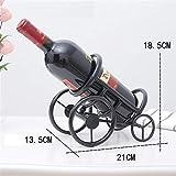 DJFLJWSTL Weinausstellungsstand, Kanone Tischplatte Weinregal Weinflasche, Zuhause, Bar Dekoration, schwarz