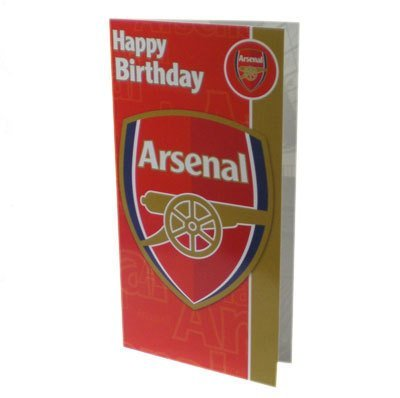 Arsenal Club Crest Birthday Card UK