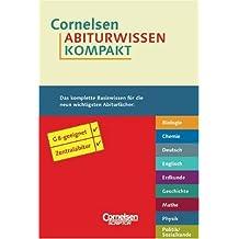 Cornelsen Abiturwissen kompakt: Biologie - Chemie - Deutsch - Englisch - Erdkunde - Geschichte - Mathematik - Physik - Politik/Sozialkunde. 9 Bände in einer Kassette