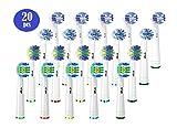 KAV Plus Compatible Oral B Lot de 20 têtes de brosse à dents électrique avec Pro 3000 Pro 5000 Pro 7000, Compatible 5 Cross...