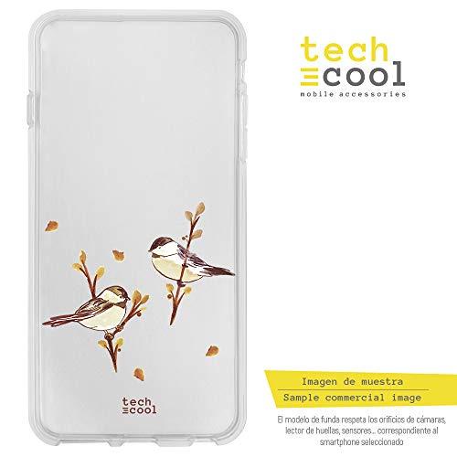(Funnytech Xiaomi Mi5S Hülle SchutzHülle Soft TPU Silikon Transparent für Xiaomi Mi5S l Case, Cover, Handy, High Definition Druck [Dibujo acuarela animalitos gorriones])