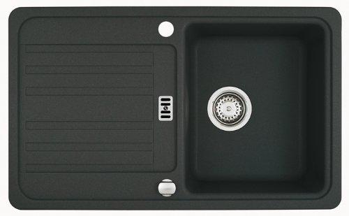 Preisvergleich Produktbild Franke UPVC Typ EFG 614–78Onyx Granit Spülbecken Küche Spüle Waschbecken Unterputz Farbe schwarz