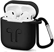 Airpods bluetooth Earphone Silicone Case Cover Anti-shock Protector with portable hook for Iphone Air pods hea