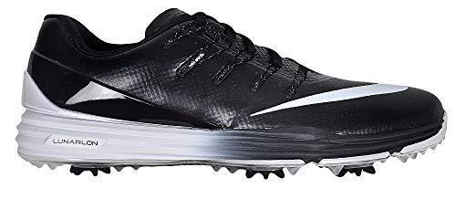 Nike Herren Lunar Control 4 Golfschuhe, Schwarz (Black/White), 43 EU (Nike Golf Schuhe Männer)