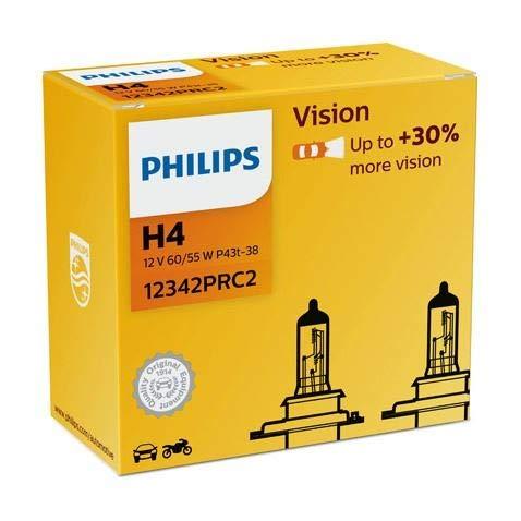 Philips H412V 60/55W P43t Vision Auto Lampen Scheinwerfer 12342prc22Leuchtmittel