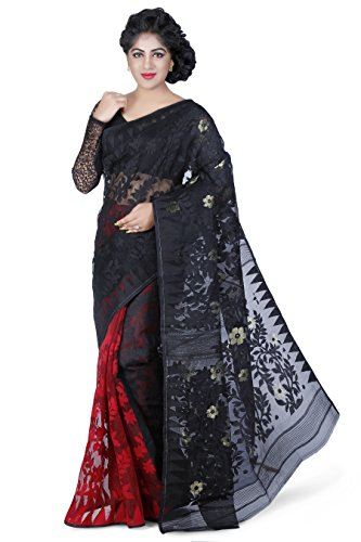 Wooden Tant Silk Cotton Saree (Dj06_Multi-Coloured)