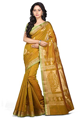 Kora Silk Chettinad Saree in Olive Green and Red Olive Green Silk Saree