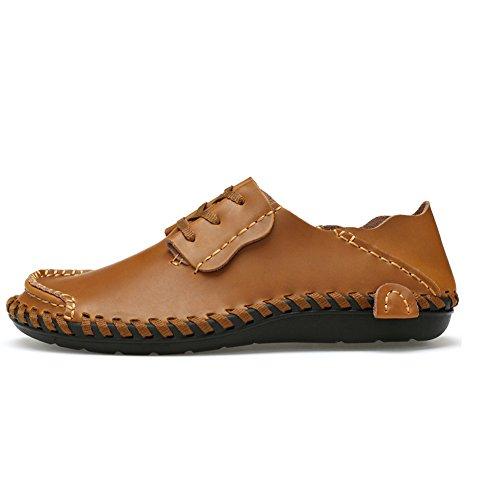 Eagsouni Homme Mocassins Chaussures Confort Classique Chaussures de ville à lacets Marron