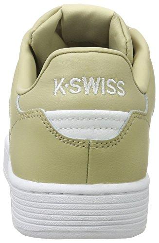 K-swiss Herren Clean Court Cmf Scarpe Da Ginnastica Schwarz (kaki / Bianco)
