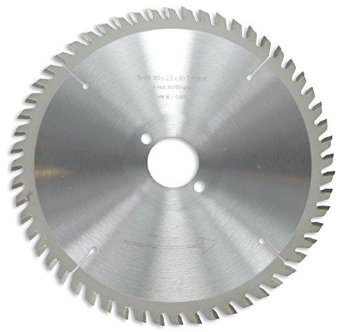 Preisvergleich Produktbild HM / HW Sägeblatt mit Nebenlöchern und Wechselzahn 190 x 30 mm mit 56 Zähnen Made in Germany (GO19)