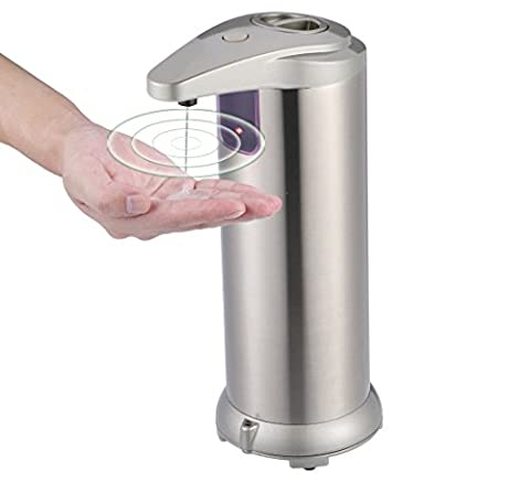 Automatic soap dispenser, Ymstarco stainless steel Countertop Touchless Sensor Soap with Waterproof Base, Handfree Auto-soap for Kitchen and