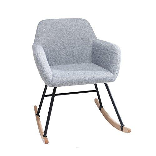 Design Schaukelstuhl BALTIC hellgrau Schaukelsessel Scandinavian Design Sessel Stuhl...