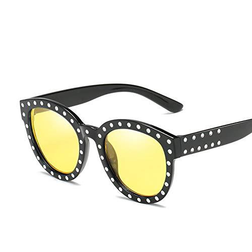 GJYANJING Sonnenbrille Cat Eye Sonnenbrille Frauen Retro Brille Übergroßen 90Er Jahre Sonnenbrille Vintage Männer Brille Uv400