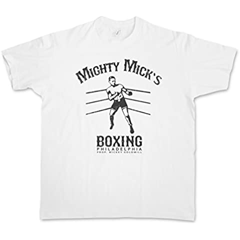 MIGHTY MICK'S BOXING II T-SHIRT – gimnasio Sylvester Tommy Gym Rocky Haven Adrian Robert Gunn Boxer Balboa Movie Stallone Studio Club Tamaños S –