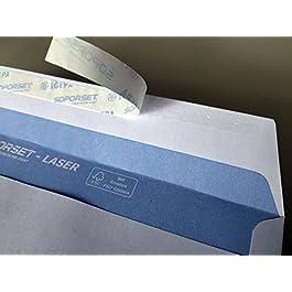 100 buste per lettera con finestra, 220 x 110 mm, stampabile, finestra termoresistente, con strip adesivo, buste d…