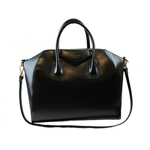 borsa da donna tipo GIVENCHY in vera pelle manifattura fiorentina (nero)