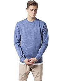 Urban Classics Melange Crewneck Sweater Blue / Whi