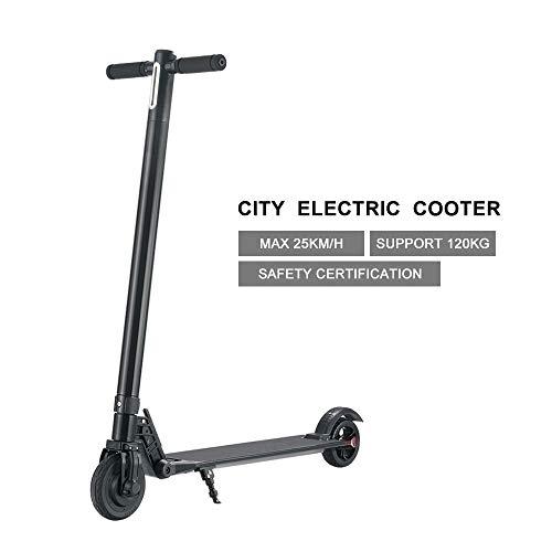 GiroSmart Elektroroller Klappbarer E-Scooter mit Kräftigem Motor bis zu 25km/h Electric Scooter für Jugendliche Und Erwachsene Kinder Schwarz EINWEG