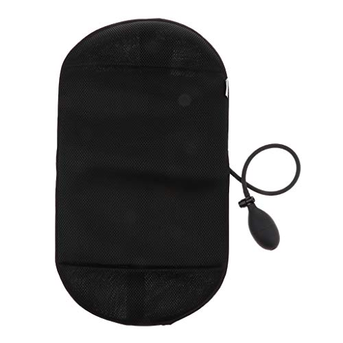 F Fityle Cuscino di Supporto Lombare Gonfiabile Portatile Elettrico con Cuscino di Viaggio della Pompa - Nero