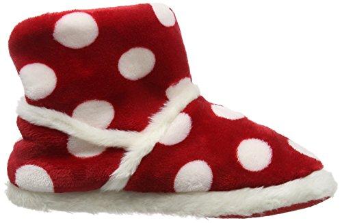 Eaze - Spot Pom Pom Slipper, Pantofole Donna Rosso (Rosso (Red))