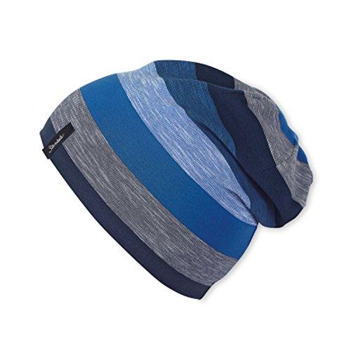 Sterntaler - Slouch-Beanie Mütze Jungen Streifen, blau - 1521805, Größe 53