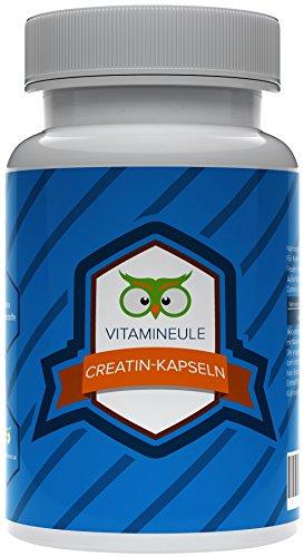 Creatin Kapseln - Creatin Monohydrat - beste Qualität aus Deutschland - ohne Zusatzstoffe - 100% Zufriedenheitsgarantie - reine Creatin Monohydrat Kapseln - deutsche Laboranalytik - Vitamineule®