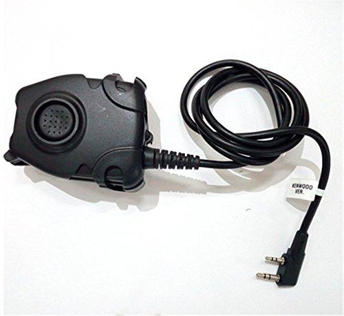 Wasserdichtes PTT-Kabel für Kenwood/ICOM / Midland Plug für Z Tactical Comtac II H50 SORDIN H60HD01 Rauschunterdrückung Headset Z112 (Z112-KEN) Icom Kabel