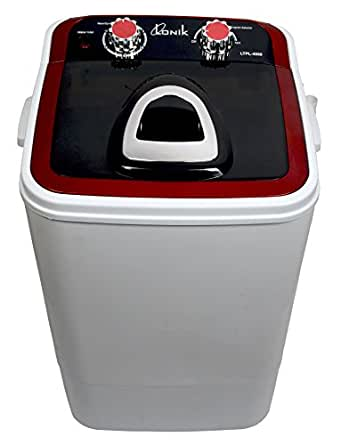 LONIK LTPL4060 Portable Mini Washing Machine 4.6 Kg Wash & 2 Kg Dry - Red & Black
