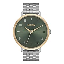Nixon Damen Analog Quarz Smart Watch Armbanduhr mit Edelstahl Armband A1090-2877-00