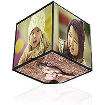 Justdolife Marco De Fotos En Forma De Cubo Marco Giratorio De 6 Lados Decoración De Escritorio