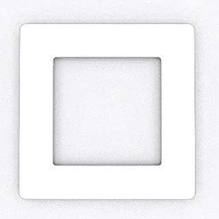 Focus Plastics SINGLE LIGHT SWITCH SOCKET COLOURED ACRYLIC SURROUND FINGER PLATE - HUGE COLOUR CHOICE (White)