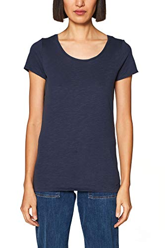 edc by ESPRIT Damen 128CC1K009 T-Shirt Blau (Navy 400) X-Small (Herstellergröße: XS)