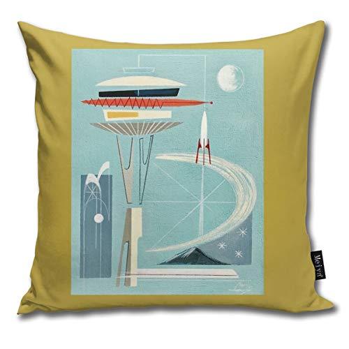 Rasyko Space Aedle Housse de Coussin pour lit ou Voiture 45,7 x 45,7 cm